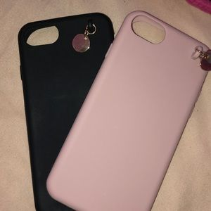 Accessories - Cutee silicon iPhone 6,7,8 cases💕🖤